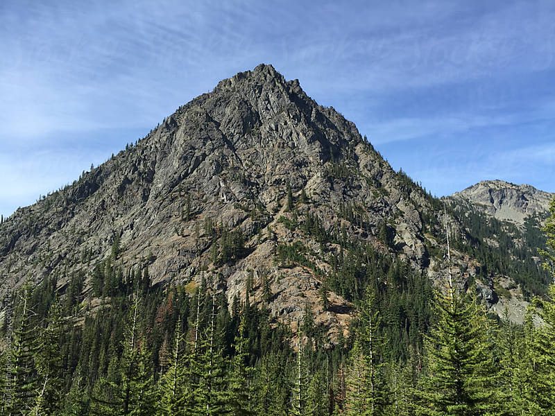 View of mountains in the Central Cascades by Paul Edmondson for Stocksy United