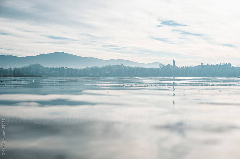 Misty landscape on Lake Como by GIC for Stocksy United