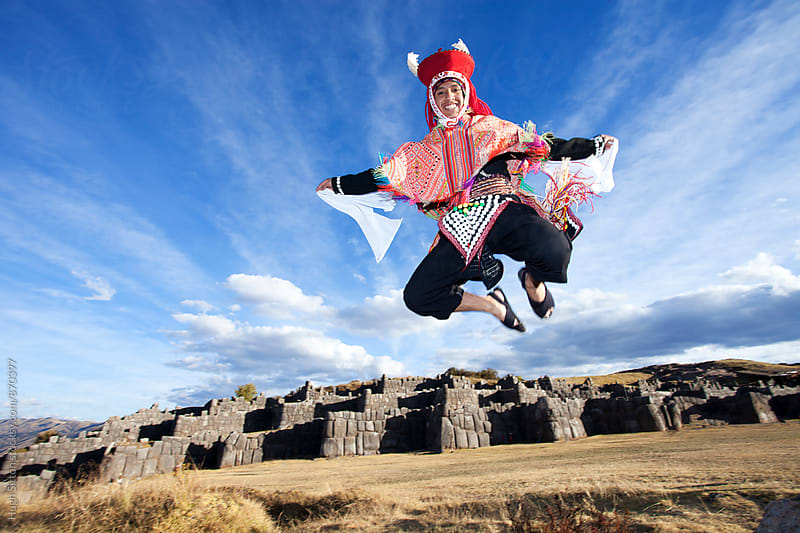 Traditional Dancer at Sacsayhuaman. Cusco. Peru. by Hugh Sitton for Stocksy United