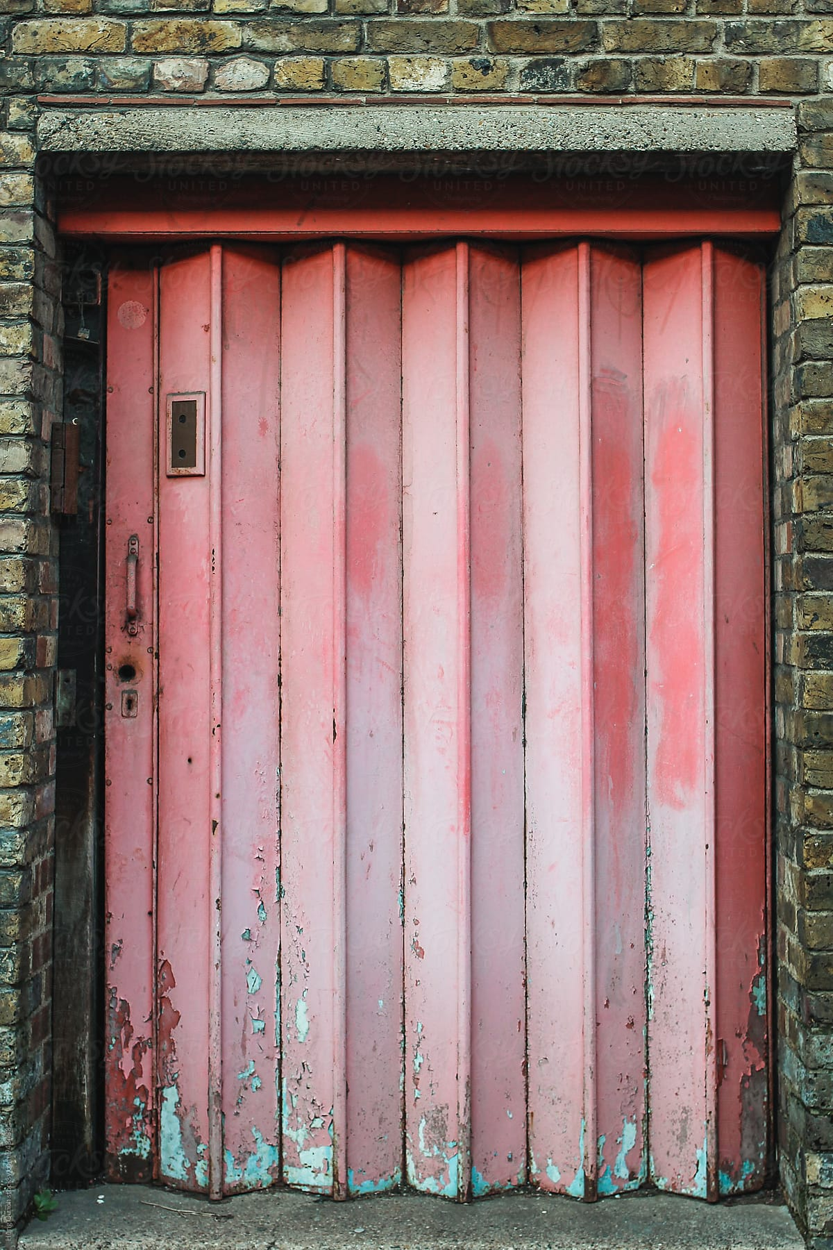 Superbe Pink Corrugated Door By Hung Quach For Stocksy United