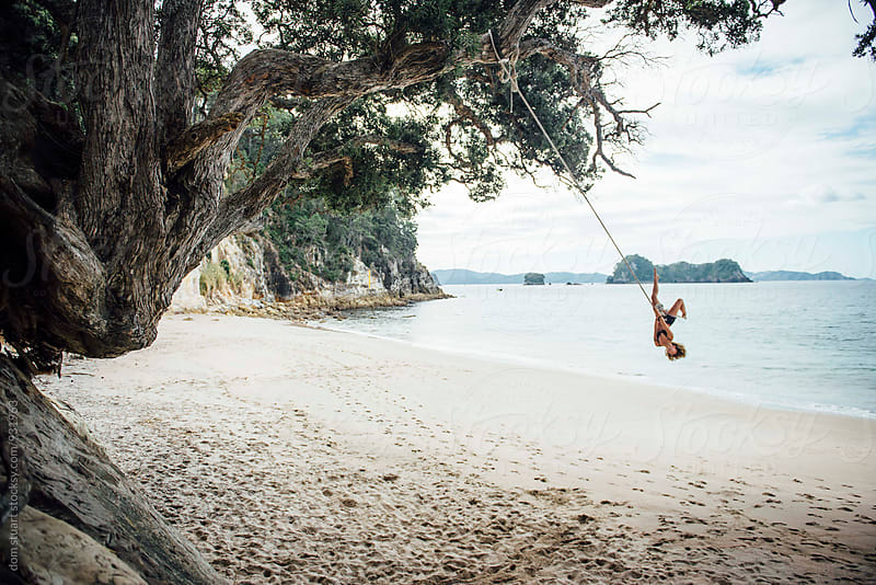 Rope Swing Fun by dom stuart for Stocksy United