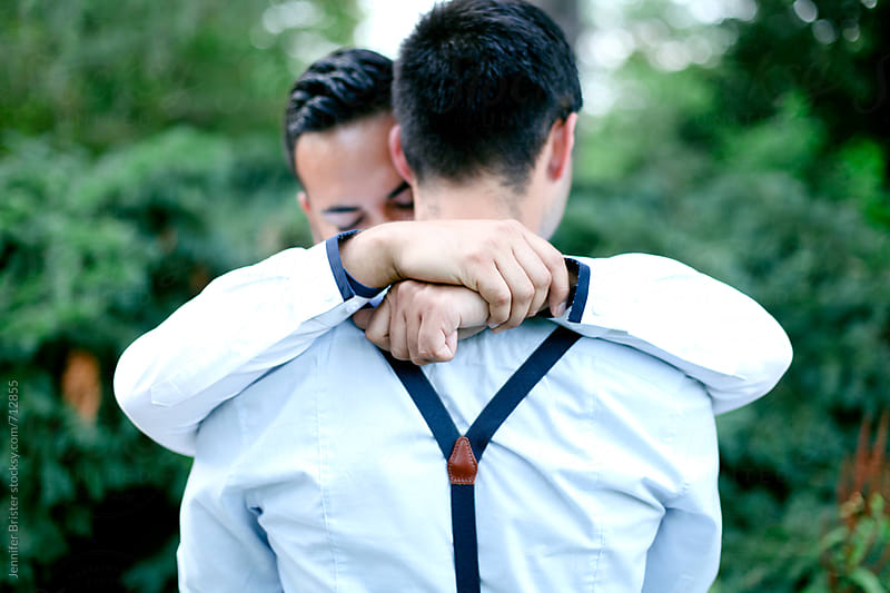 Couple embracing  by Jennifer Brister for Stocksy United