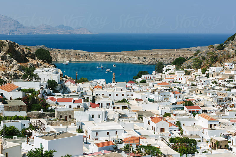 The bay of Lindos, Rhodes, Greece by Paul Phillips for Stocksy United