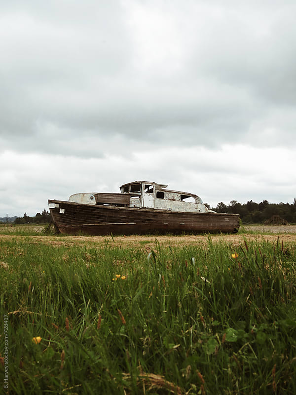 An Old Ship in a Field by B. Harvey for Stocksy United