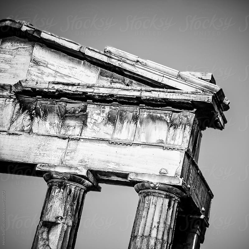 An ancient ruin in Athens, Greece by Helen Sotiriadis for Stocksy United
