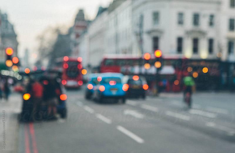 Defocused London street by kkgas for Stocksy United