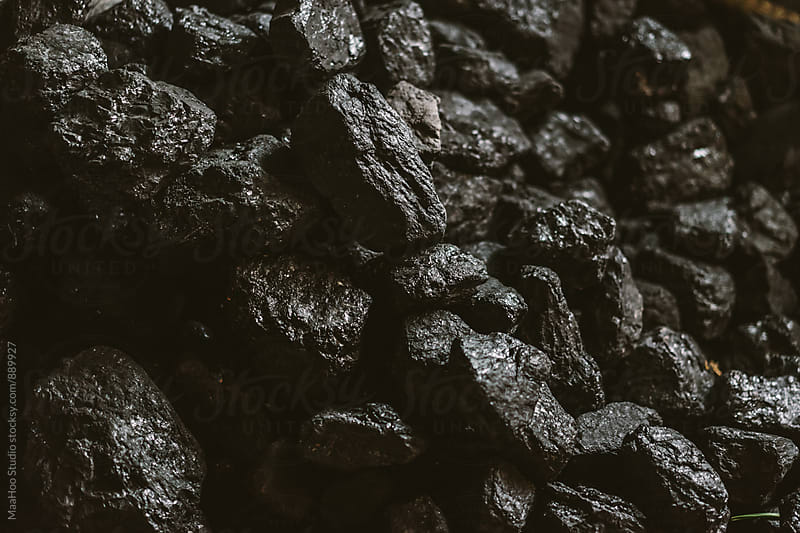 Pile of coal by MaaHoo Studio for Stocksy United