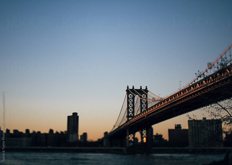 Bridge at sunset by Isaiah & Taylor Photography for Stocksy United