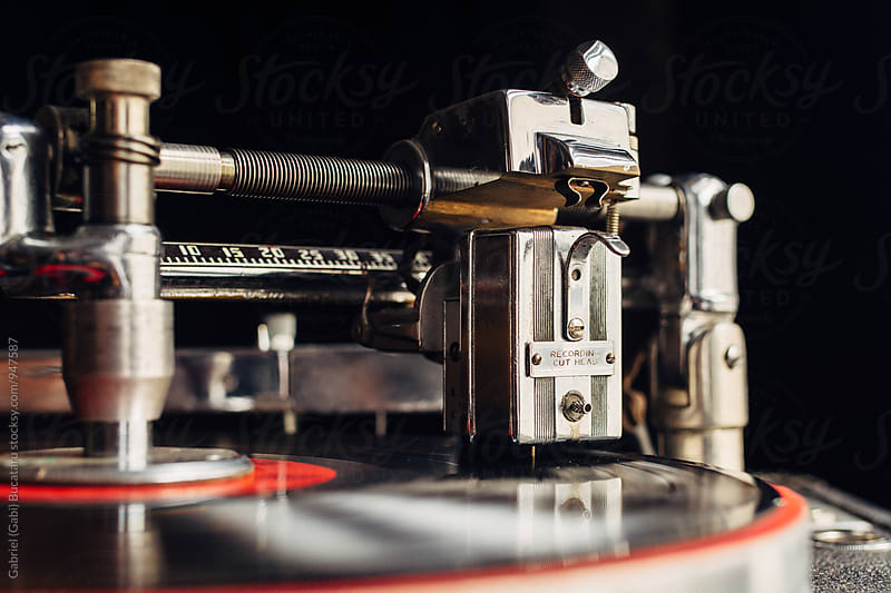 Recording cutting head on an old vinyl recording machine by Gabriel (Gabi) Bucataru for Stocksy United