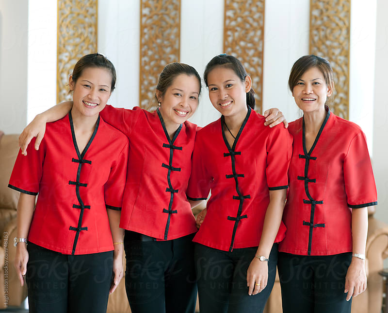 Portrait of staff  working in the hospitality industry. by Hugh Sitton for Stocksy United