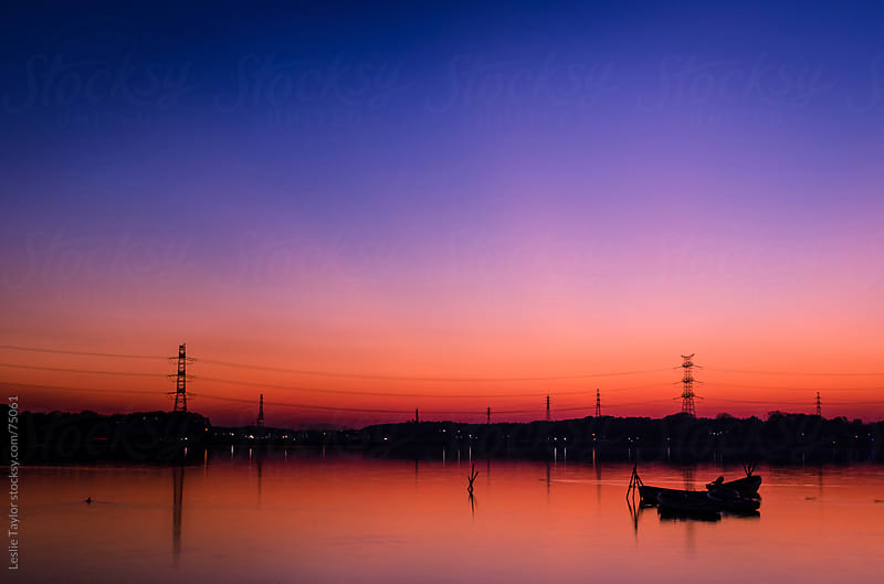 Dusk On A Lake In Japan by Leslie Taylor for Stocksy United