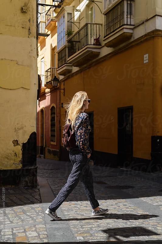 Woman walking by Milles Studio for Stocksy United