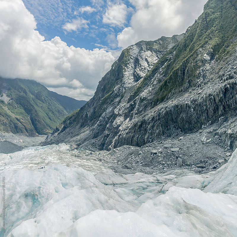The Franz Joseph Glacier and Mountains in Southern New Zealand by suzanne clements for Stocksy United