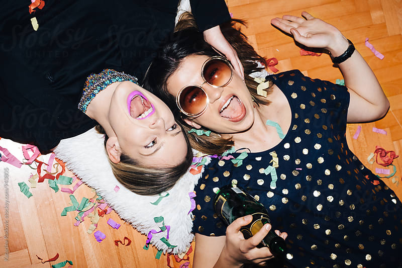 Two Party Girls Having a Good Time by Katarina Radovic for Stocksy United