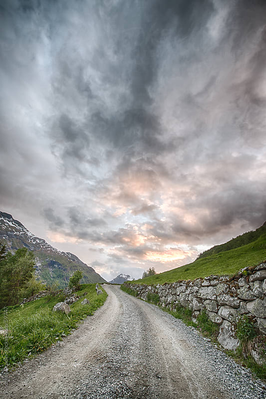 rural road in northern Norway, Scandinavia by Andreas Gradin for Stocksy United