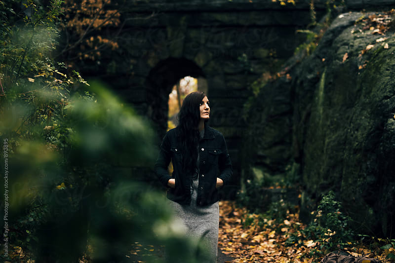 Woman alone in park by Isaiah & Taylor Photography for Stocksy United