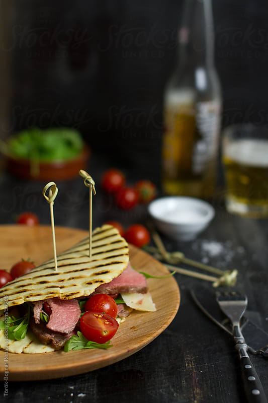 Steak sandwich by Török-Bognár Renáta for Stocksy United