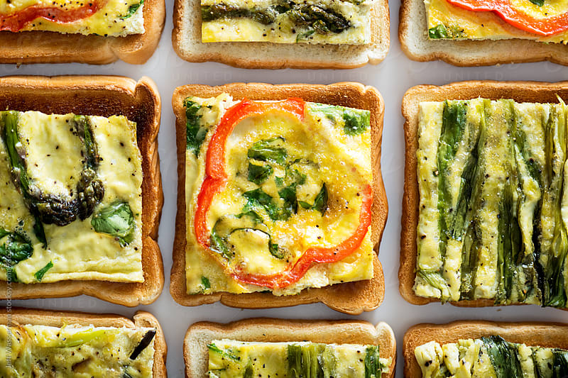 Toast with Sheet Pan Eggs  by Studio Six for Stocksy United