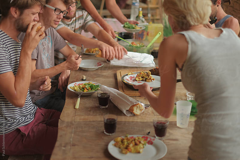 meal in france by Paul Schlemmer for Stocksy United