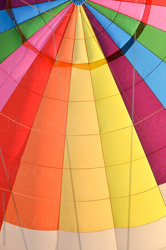 Detail of the interior of a hot air balloon by Bisual Studio for Stocksy United