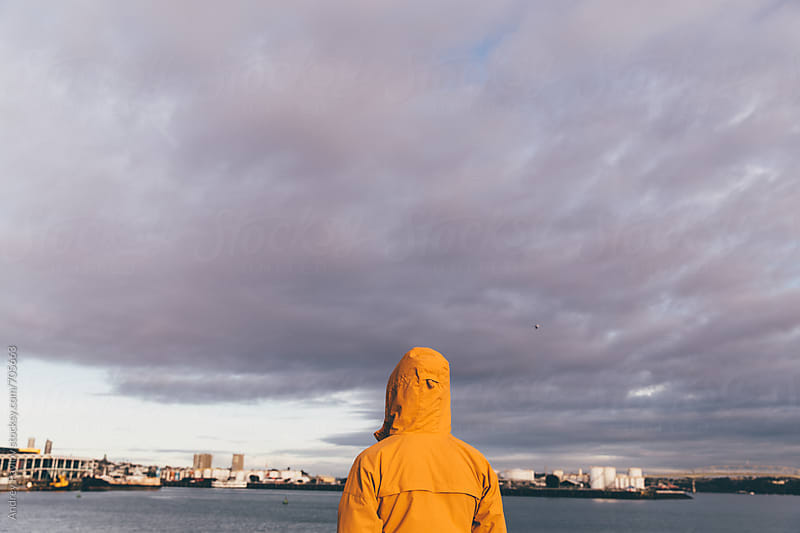 Man looking at Auckland, New Zealand by Andrey Pavlov for Stocksy United