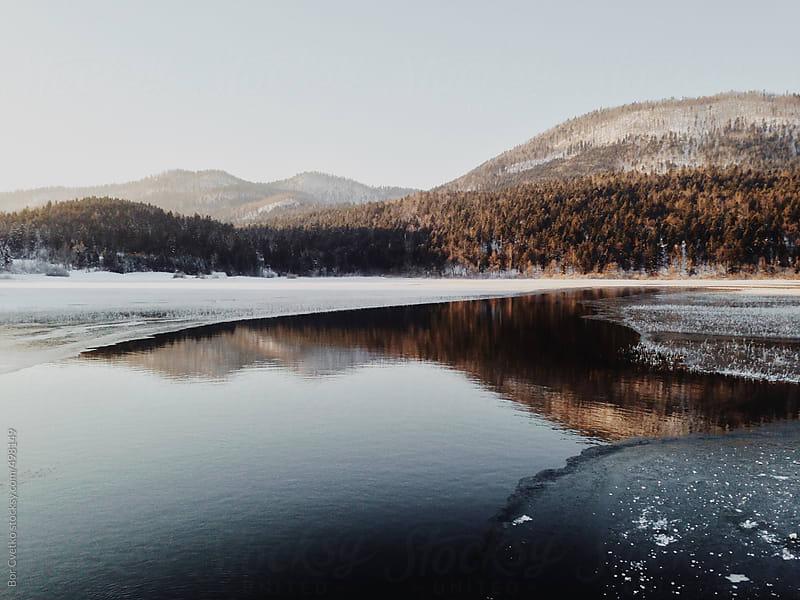 Lake in winter by Bor Cvetko for Stocksy United