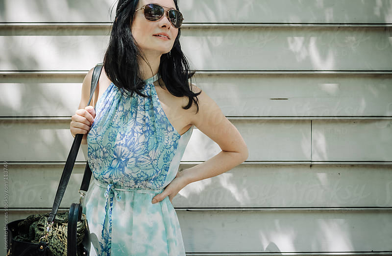 Woman Spending Leisure Day in Tribeca, New York by Joselito Briones for Stocksy United