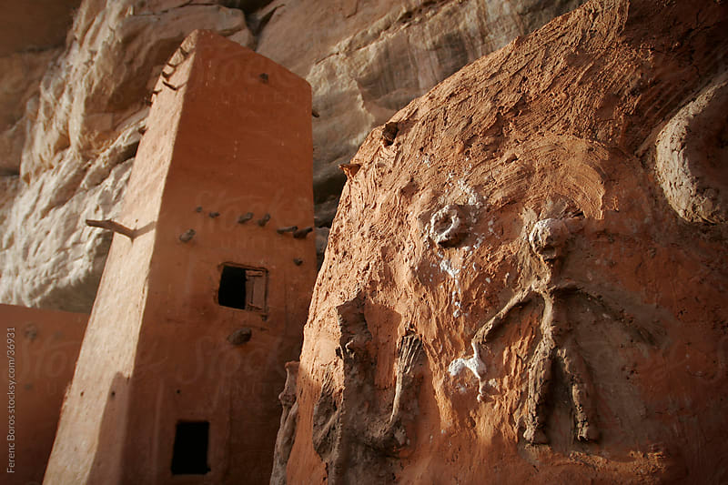 House of the Hogon in a cliff-dwelling in Dogon Country by Ferenc Boros for Stocksy United