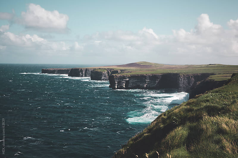 Loop Head Cliffs . Country of Clare Ireland by HEX. for Stocksy United