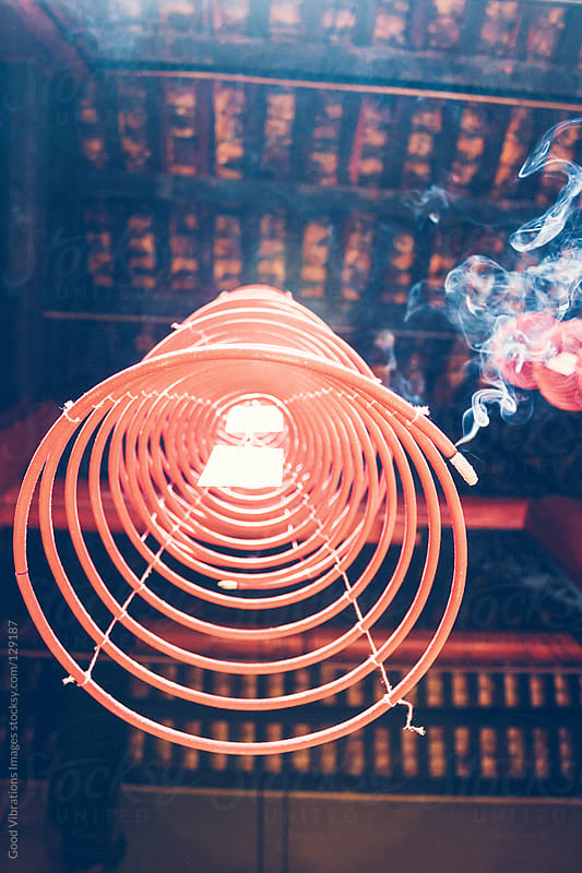 Incense Spiral by Good Vibrations Images for Stocksy United
