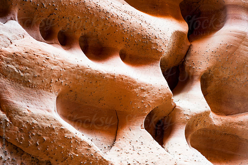 Sandstone structures inside dry fork slot canyon by Peter Wey for Stocksy United