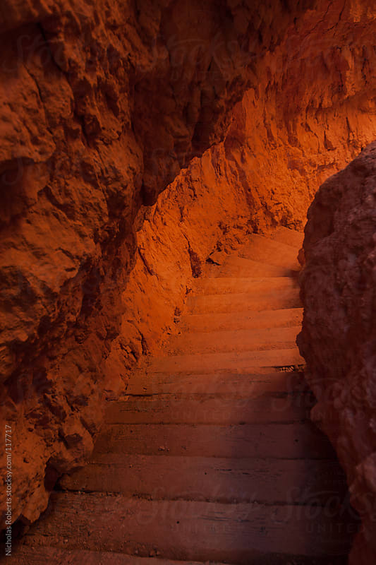 Glowing Trail Steps by Nicholas Roberts for Stocksy United