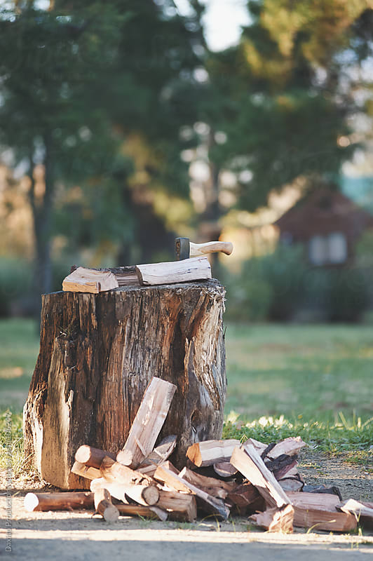 firewood outdoors by Daxiao Productions for Stocksy United