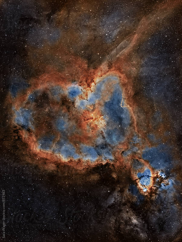 IC1805 The Heart nebula by Sara Wager for Stocksy United