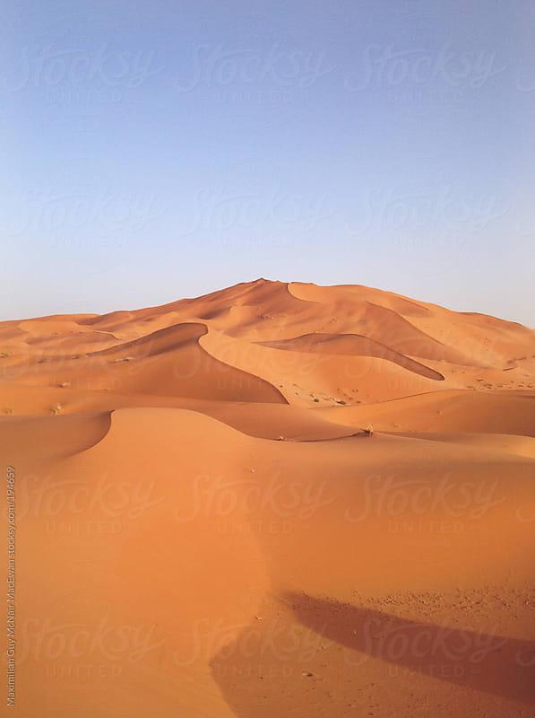 The Sand Dunes of the Sahara Desert by Maximilian Guy McNair MacEwan for Stocksy United