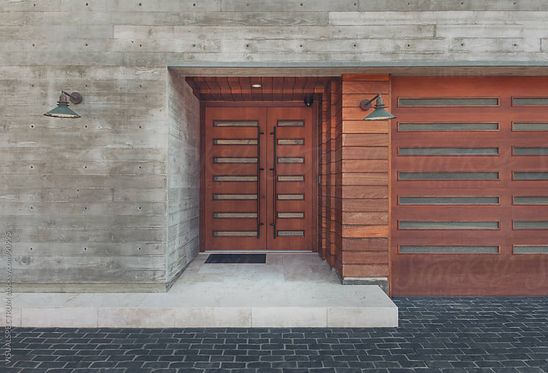 Modern House Entrance by VISUALSPECTRUM for Stocksy United
