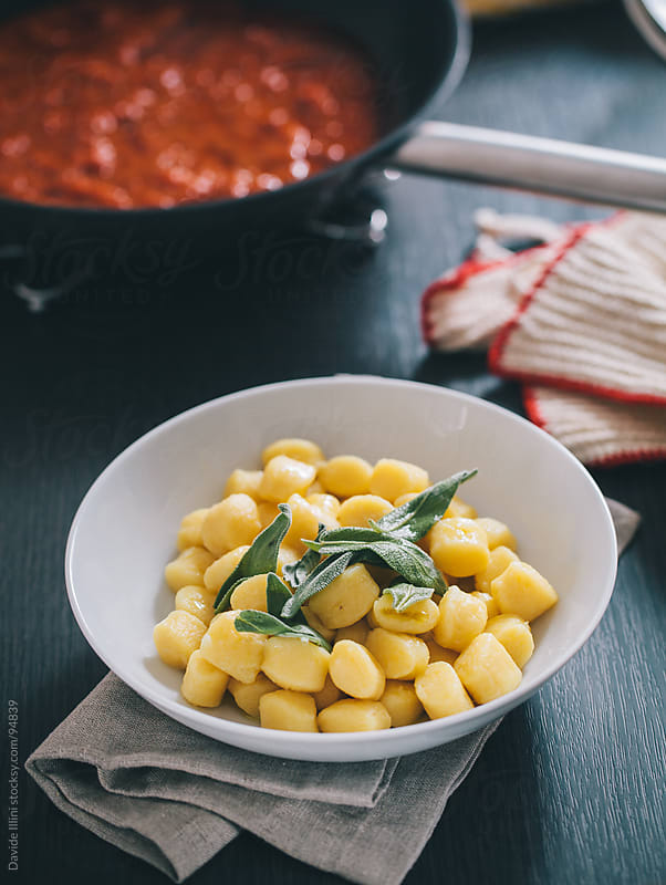 Gnocchi with butter and sage. by Davide Illini for Stocksy United