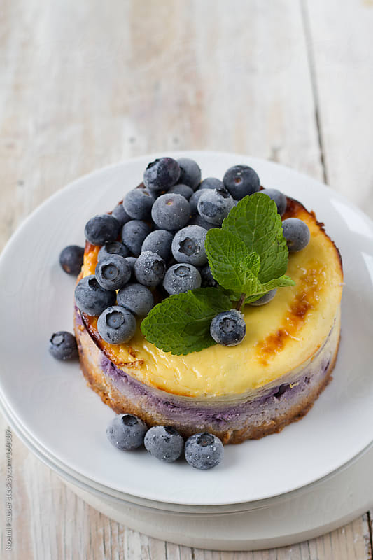 Blueberry cheescake by Noemi Hauser for Stocksy United