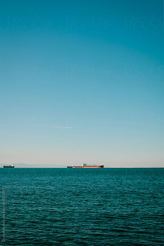 Tankers on the Ocean by Grady Mitchell for Stocksy United