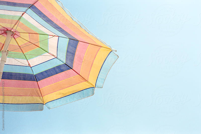 Beach Umbrella  by Cameron Whitman for Stocksy United