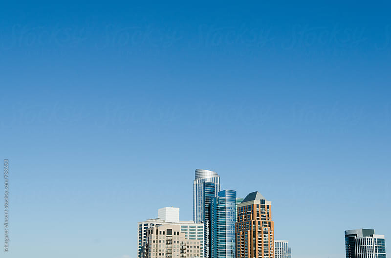 minimal urban skyscrapers by Margaret Vincent for Stocksy United