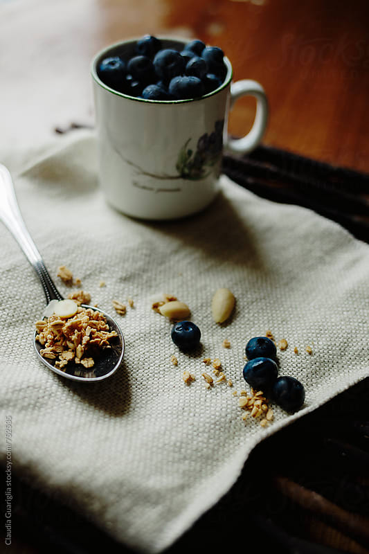 Blueberries breakfast by Claudia Guariglia for Stocksy United