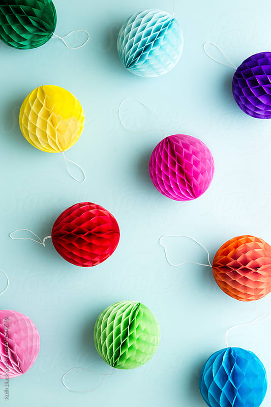 Colorful honeycomb balls by Ruth Black for Stocksy United