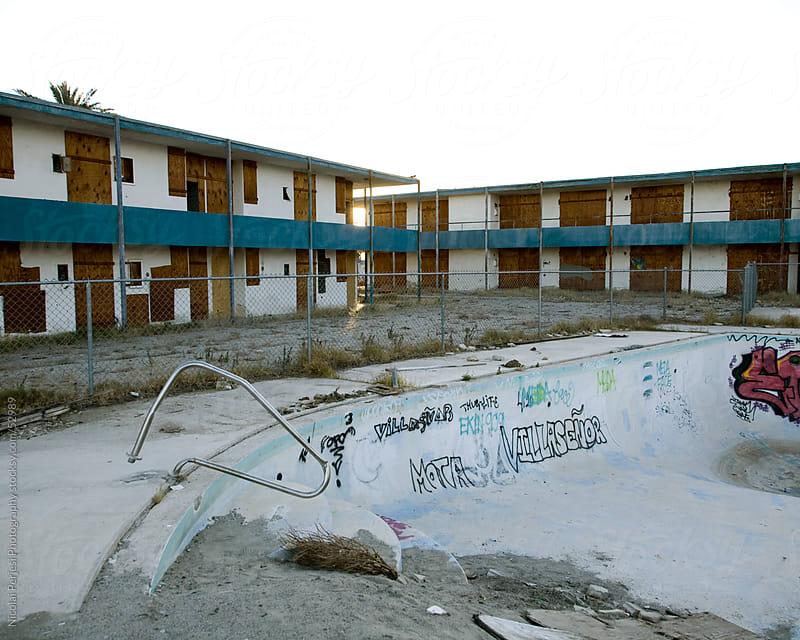 Salton Sea motel by Nicolai Perjesi Photography for Stocksy United