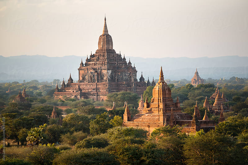 Stupas all around Bagan, Myanmar by Jino Lee for Stocksy United