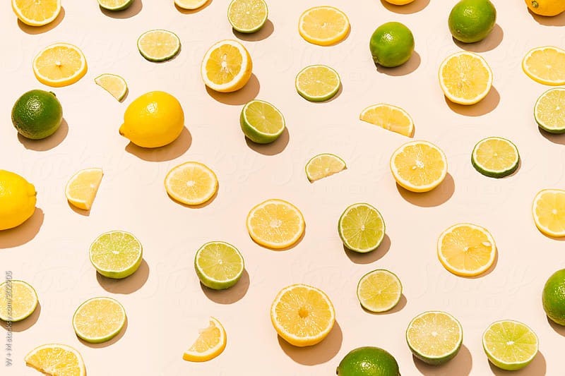 Sliced fruit lemon and lime by W + M for Stocksy United