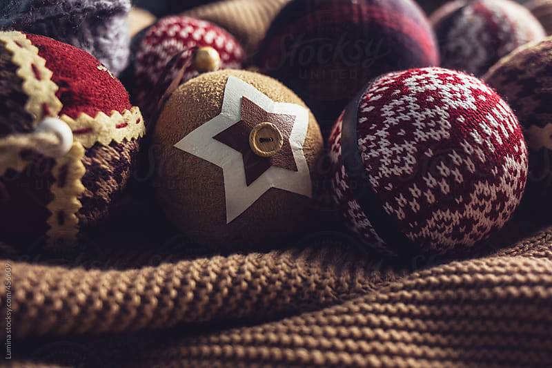 Woolly Christmas Ornaments by Lumina for Stocksy United