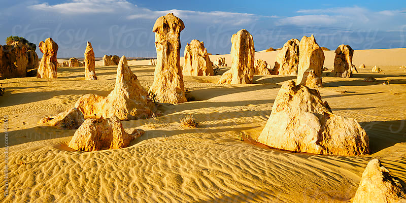 Eroded rock formations, The Pinnacle Desert, Nambung National Park, Western Australia, Australia, Pacific by Gavin Hellier for Stocksy United