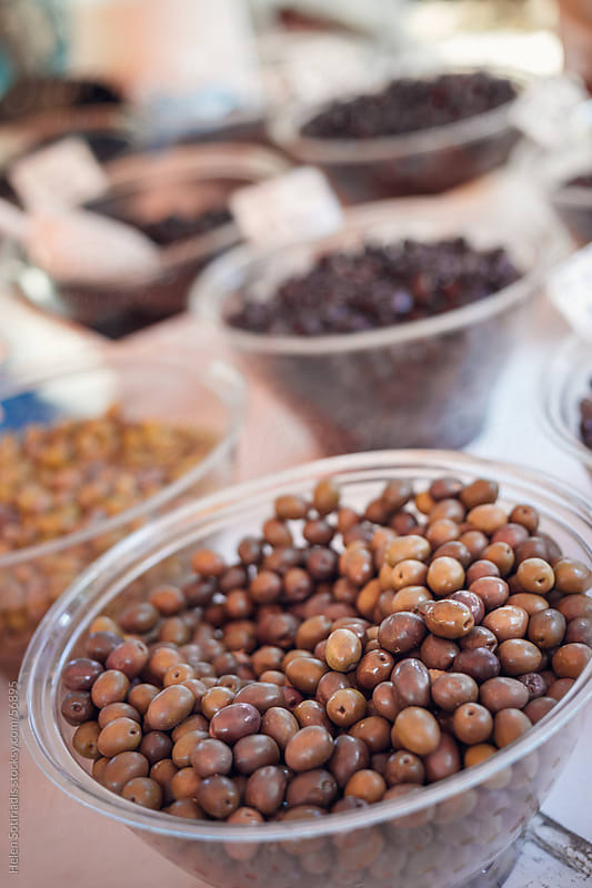 Olives at the local market by Helen Sotiriadis for Stocksy United