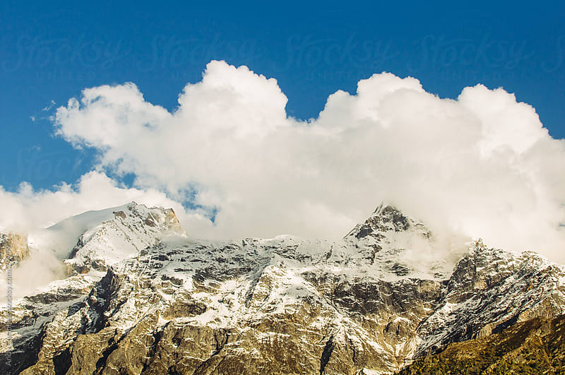 The Himalaya mountains  by Andy Campbell for Stocksy United